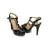 Sandale de ocazie dama negre Estera cu toc de 13 centimetri