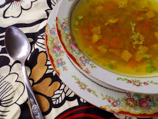 Finished homemade chicken soup