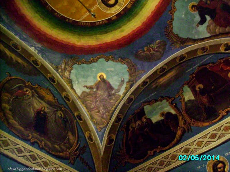 Detaliu. Pictura murala la Manastirea Ratesti, Buzau/ Detail. At Ratesti Monastery. Buzau County.