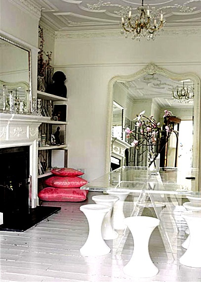 beautiful traditional room oversized mirror