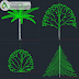 مجموعة بلوكات اشجار عادية اوتوكاد dwg