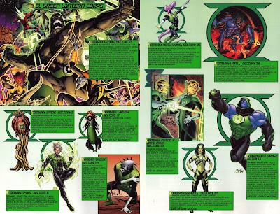 Varios Linternas Verdes ficha comic