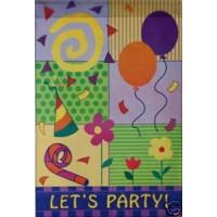 let's party garden flag