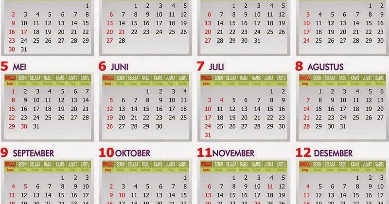 Kalender Pendidikan 2014 2015 Tempatnya Orang Belajar