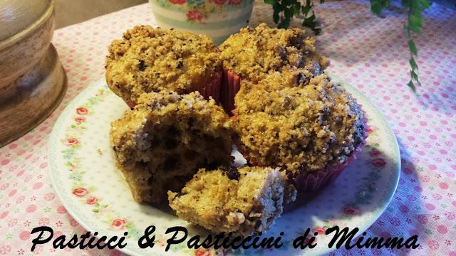 muffins con muesli  e banane