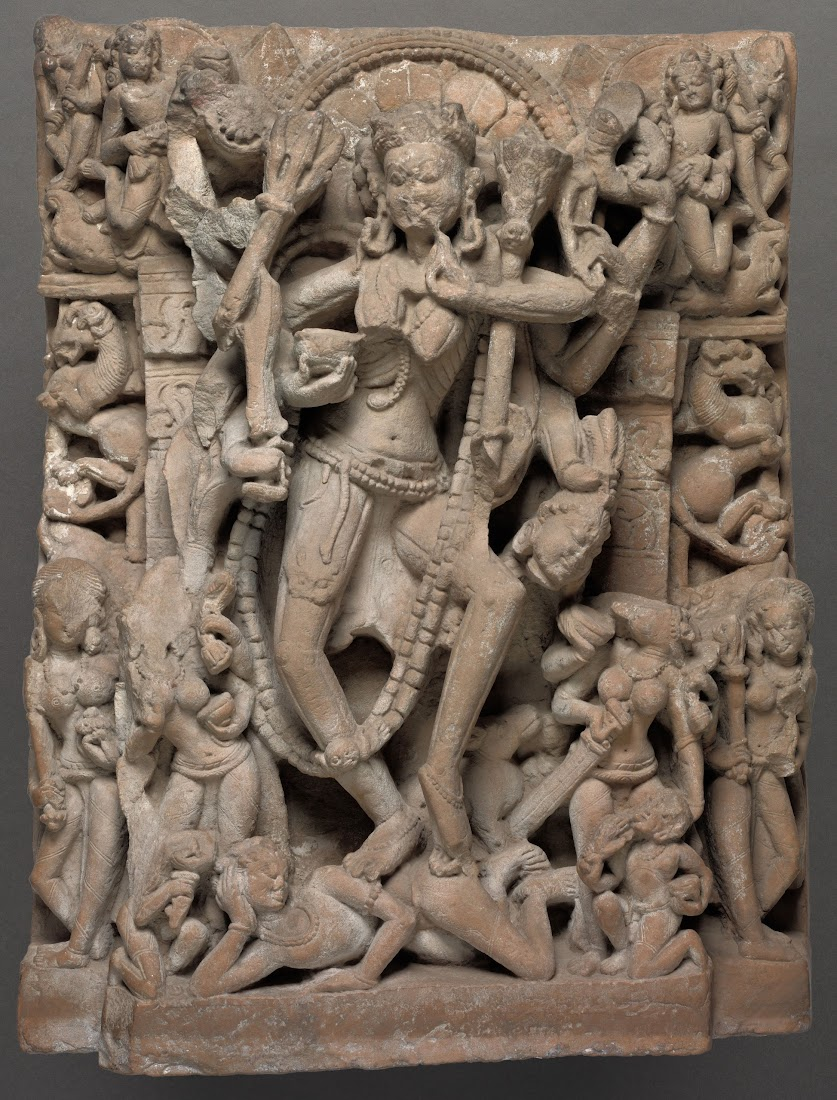 Chamunda (Kali) Dancing on Reclining Shiva