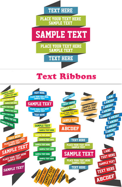 Multicolored Text Ribbons