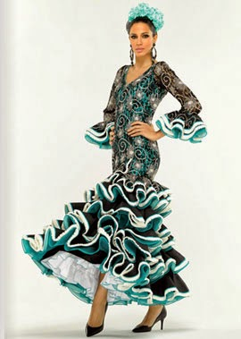trajes de flamenca de encaje El Corte Inglés 2014