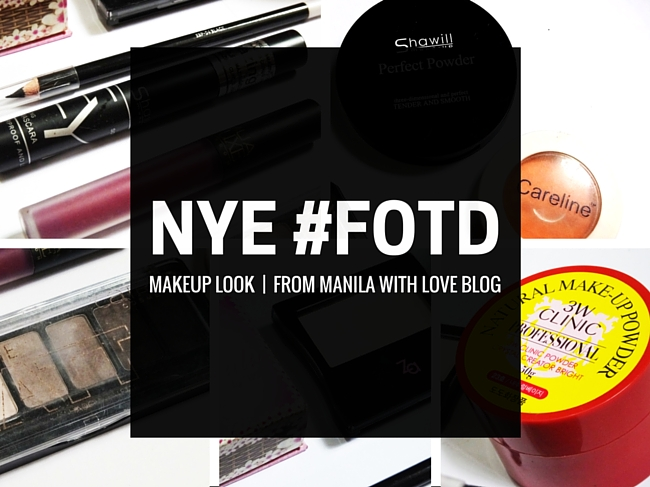 frommanilawithlove blog, nye, new years eve, makeup, fotd, face of the day