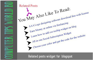 related posts widget for blogspot