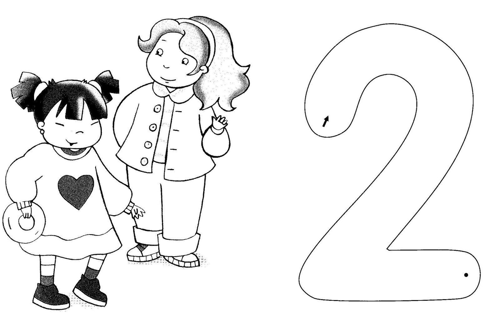 Trabajando en Educación Infantil: 10 fichas del número 2