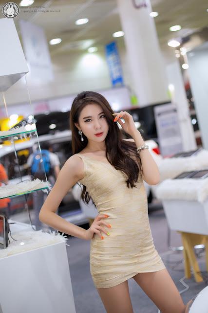 3 Min Yu Rin - 2015 Seoul Auto Salon - very cute asian girl-girlcute4u.blogspot.com