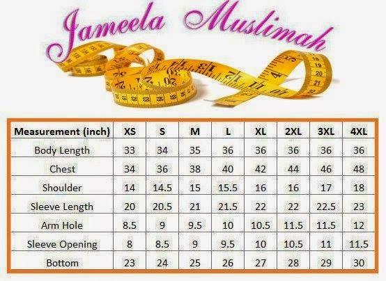 Ukuran-Saiz-T-shirt-Jameela-Muslimah