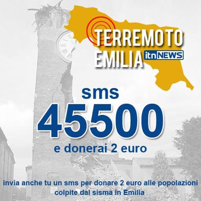 sms terremoto emilia romagna