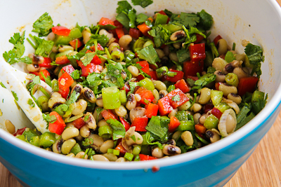 Recipe for Black-Eyed Pea Salad with Peppers, Cilantro, and Cumin-Lime ...