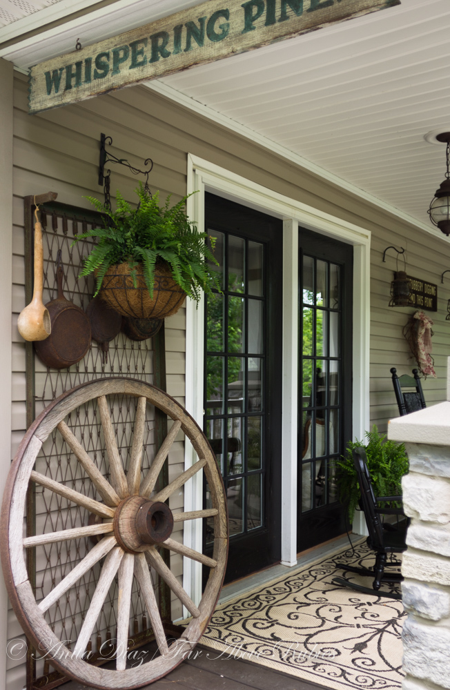 Far above rubies southern porch with vintage farmhouse style - Vintage front porch decorating ...