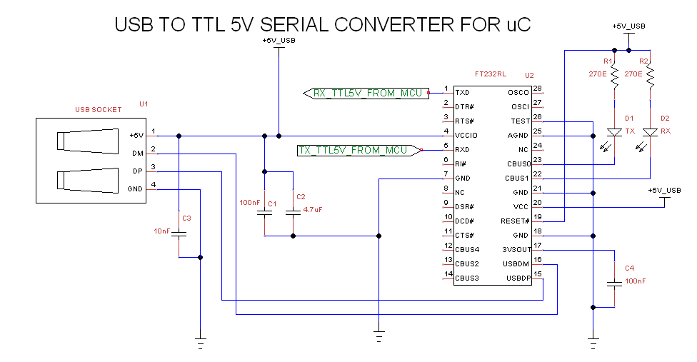 Relay control through PC using Virtual Com Port Terminal (FT232RL ...