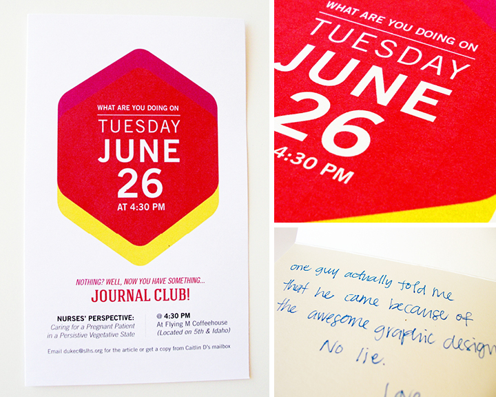 Kimberly Church || Journal Club Flyers