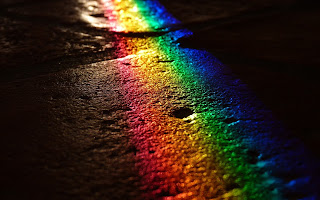 rainbow reflection hd background for photoshop