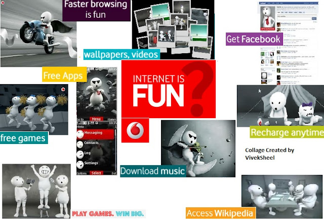 Collage created by Viveksheel for Vodafone Blogging Contest ' Internet is Fun'