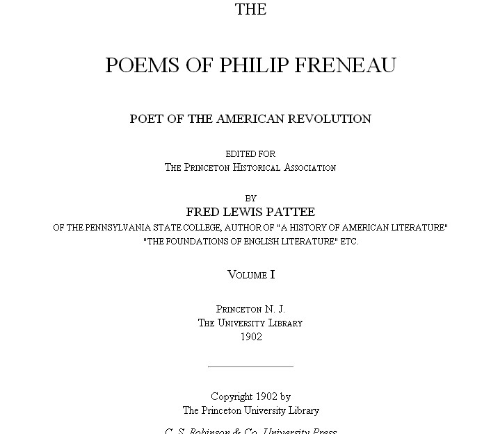 a biography of philip frenau an american poet Buy early american poetry: beauty in words (poetry rocks) reprint by stephanie buckwalter (isbn: 9781598453782) from amazon's book store everyday low prices and free delivery on eligible orders.
