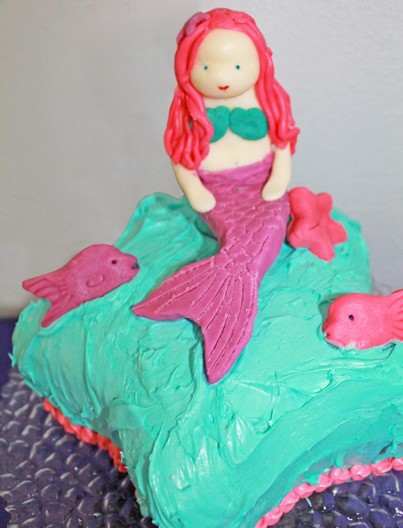 modeling chocolate mermaid cake