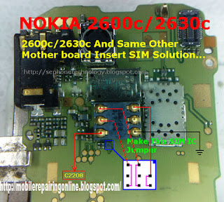 nokia 2600c 2630c sim solution