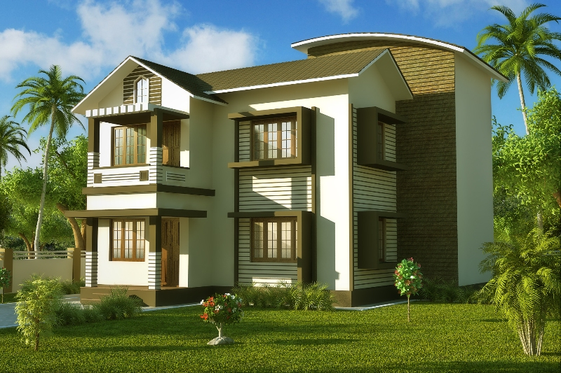 3d house elevation in india