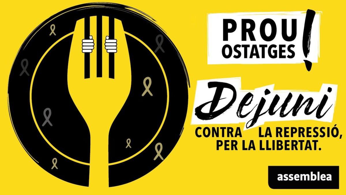 Apunta't al dejuni per la llibertat dels presos polítics i els exiliats