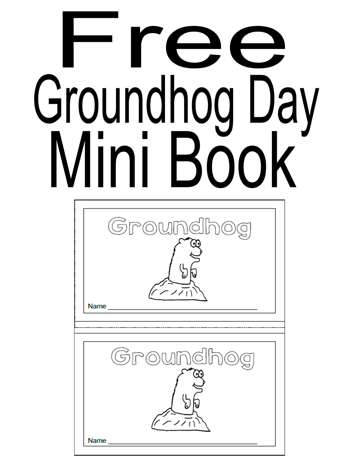 simply centers free groundhog day mini book