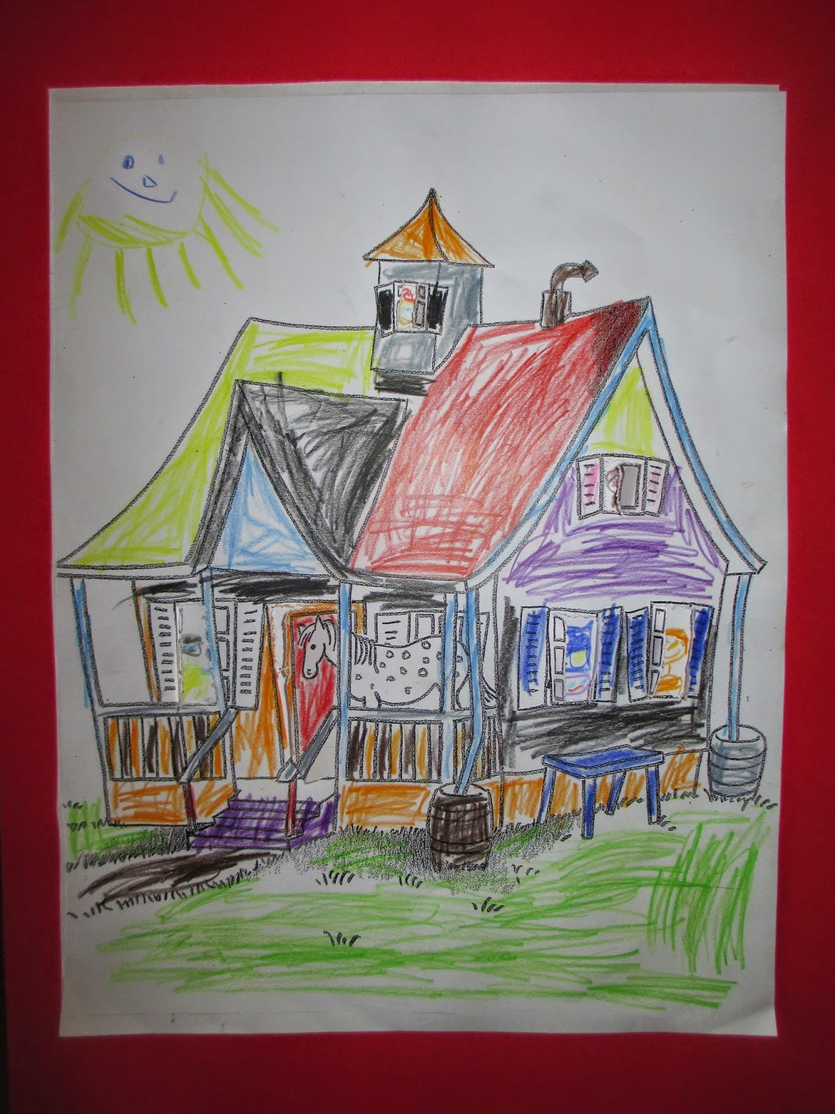 Villa Kunterbunt - Pippi Langstrumpf - zeichnen und Basteln im Kindergarten
