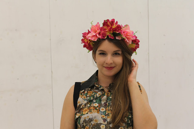 Girl in floral crown