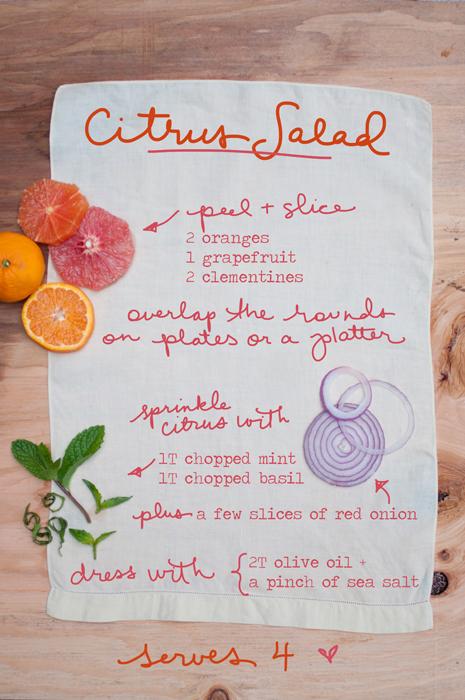 Pomladna solata iz citrusov