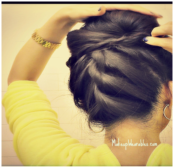 Korean Bun | Upside down braid bun | easy, step-by-step rope braid hair tutorial video for medium long hair - prom, wedding, homecoming, bridesmaid