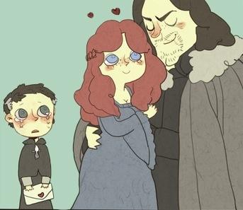 El pequeño meñique está triste porque Cat ama a otro - Juego de Tronos en los siete reinos
