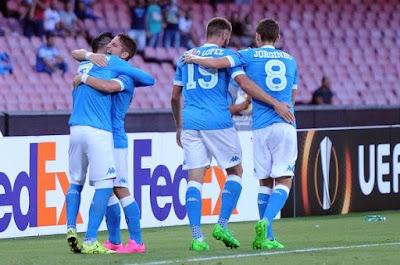 Napoli Sikat Club Brugge 5 Gol Tanpa Balas Pada UEL Pekan Pertama