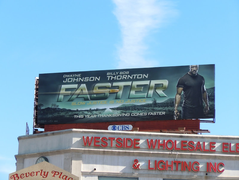 Dwayne Johnson Faster billboard