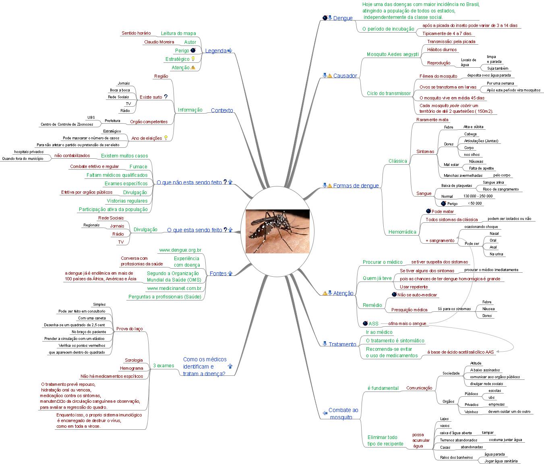 Mapa Mental da Dengue