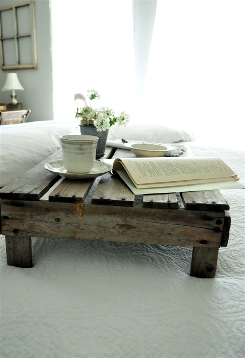 Pallet Wood Table Tray