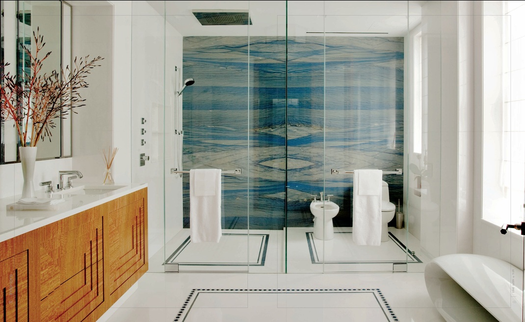 Juan Montoya Design Via Interiors. Shower Is Two Bookmatched Slabs Of Azul  Macauba Quartzite. Stuh Nning!