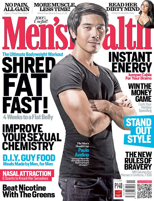 Paulo Avelino Covers Men's Health November 2012 Issue
