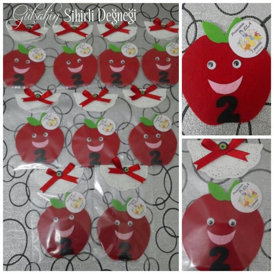 Keçe elma magnet