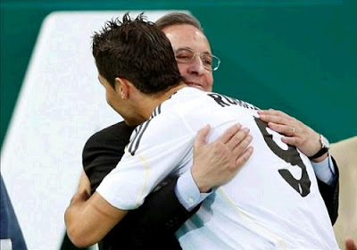 Cristiano Ronaldo with Florentino Perez