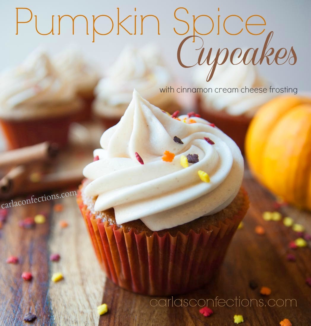 Pumpkin Spice Cupcakes Recipe | Carla's Confections #pumpkin #pumpkinspice #cupcakes #recipe