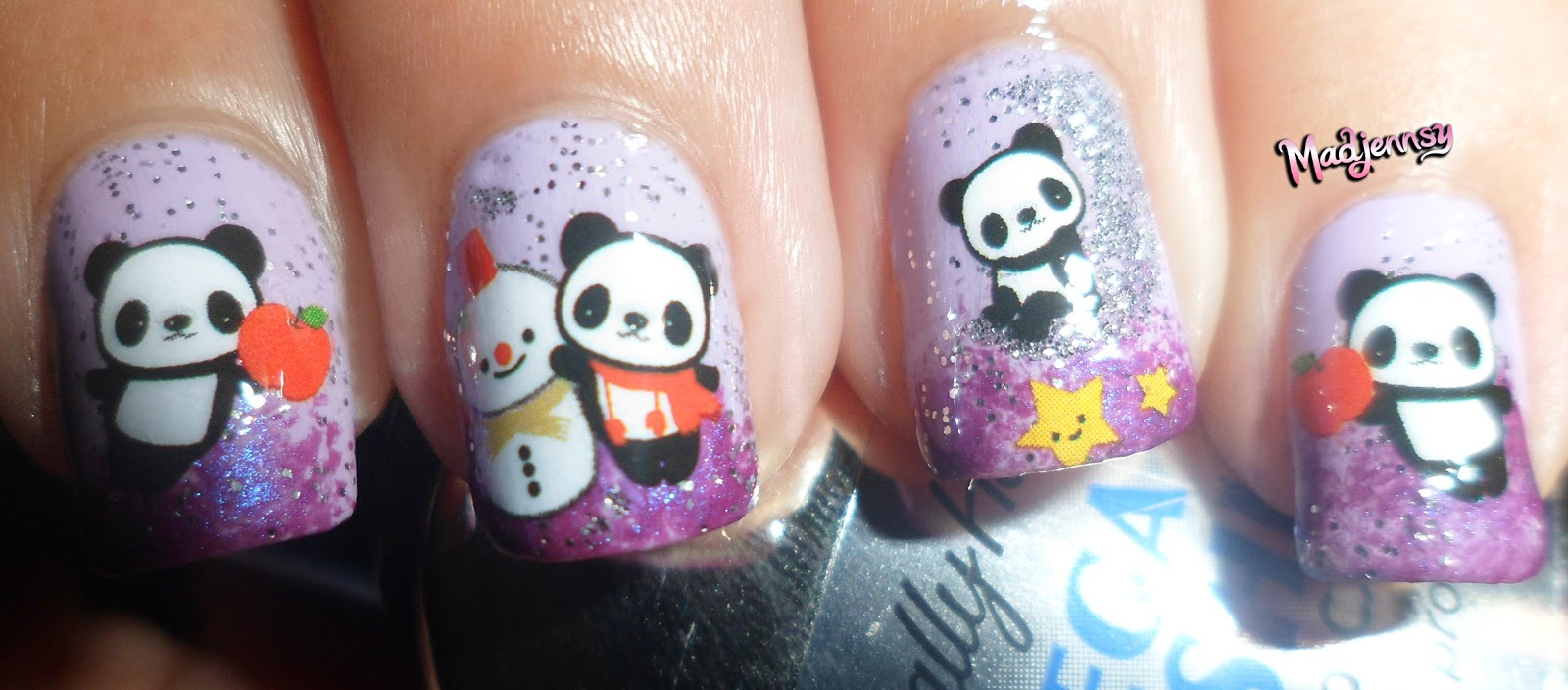 Cute panda nails bornpretty store water decal review tutorial cute panda nails bornpretty store water decal review tutorial prinsesfo Images