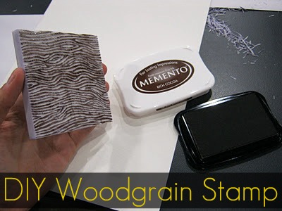 Diy How To Make A Wood Grain Stamp Campfire Chic