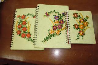 Cuadernos Con Tapa Bordados En Cinta