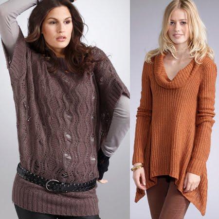 Пуловер без ръкави с ажури и туника с релефна плетка
