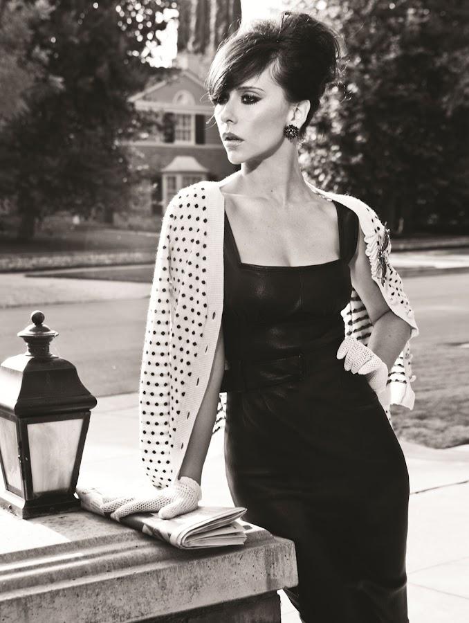 Jennifer Love Hewitt classic black and white photo from Miami Living magazine