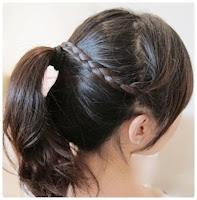 cara mengikat rambut dengan rambut sendiri